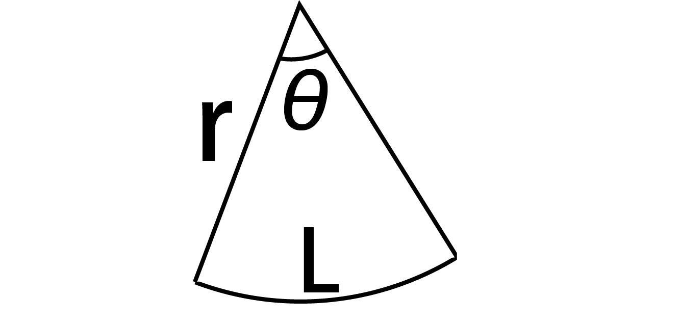 扇形面積公式の図