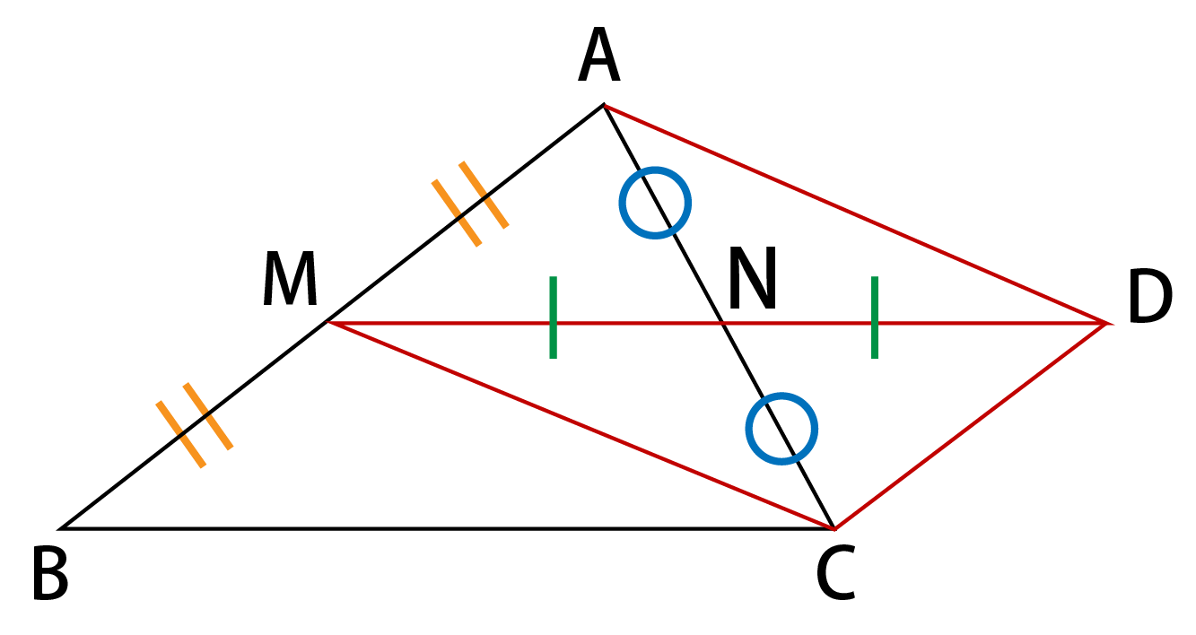 中点連結定理の証明解説画像