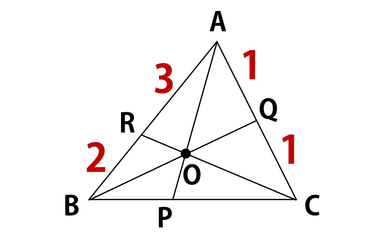 チェバの定理問題の画像