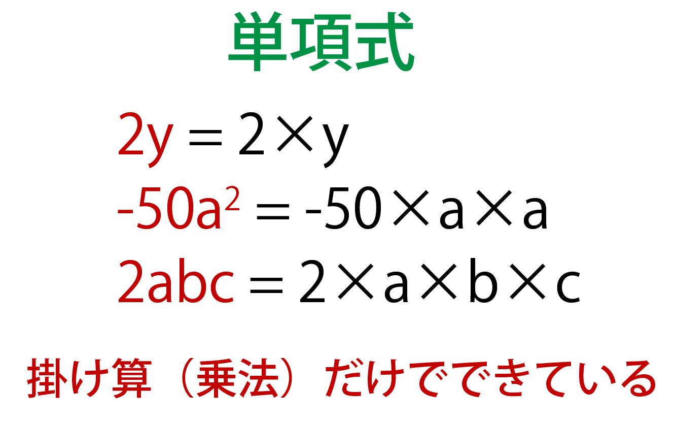 単項式とは何かの解説画像
